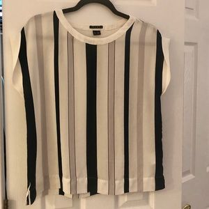 Theory Striped Blouse